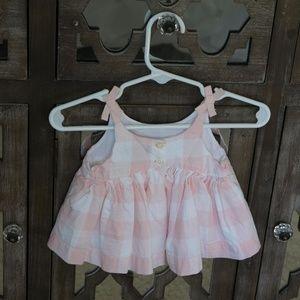 GAP Dresses - Baby Gap   Plaid White & Pink Dress